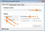 IDM Backup Manager screenshot