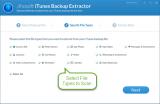 iTunes Backup Extractor screenshot