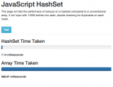 Javascript Hashset screenshot