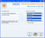 Microsoft Access Database Converter screenshot
