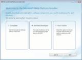 Microsoft Web Platform Installer screenshot