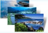 Microsoft Windows 7 Theme: Blue Water screenshot