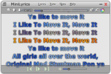 MiniLyrics screenshot