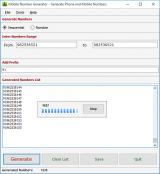 Mobile Number Generator screenshot