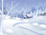 Morning Snowfall Wallpaper screenshot
