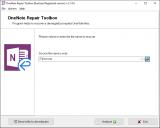 MS OneNote Repair Toolbox screenshot