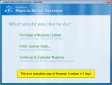 Musereo Mono to Stereo Converter screenshot