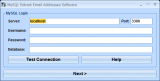 MySQL Extract Email Addresses Software screenshot