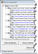 NoMoreDupes for Outlook screenshot