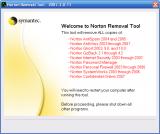 Norton Removal Tool screenshot
