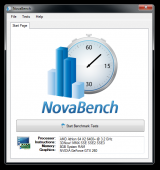 NovaBench screenshot