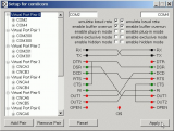 Null-modem emulator (com0com) screenshot