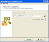 Outlook Recovery Toolbox screenshot