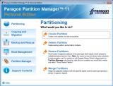 Paragon Partition Manager screenshot