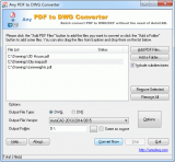 PDF to CAD Converter screenshot
