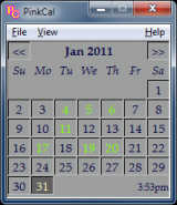 PinkCal screenshot