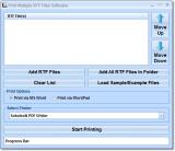 Print Multiple RTF Files Software screenshot
