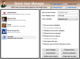 Quick User Manager screenshot