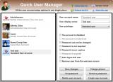 Quick User Manager screenshot