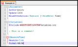 RainLexer screenshot