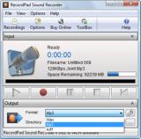 RecordPad Sound Recorder screenshot