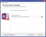 Recovery Toolbox for OneNote screenshot