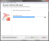 Recovery Toolbox for SQL Server screenshot