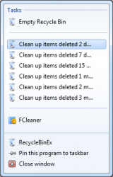 RecycleBinEx screenshot