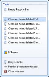RecycleBinEx screenshot
