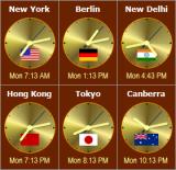 Sharp World Clock screenshot