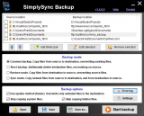 SimplySync Backup screenshot