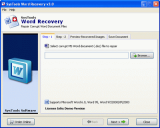 SysTools Word Recovery screenshot