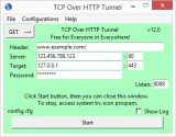 TCP Over HTTP Tunnel screenshot