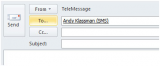 TeleMessage Outlook Plug-in screenshot
