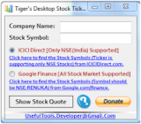 Tiger's Desktop Stock Ticker screenshot