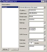 Tiny DHCP Server screenshot