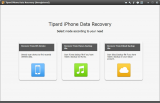 Tipard iPhone Data Recovery screenshot