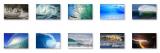 Tsunami Windows 7 Theme with sound screenshot