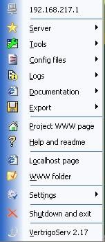 VertrigoServ screenshot