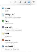 Wappalyzer for Firefox screenshot