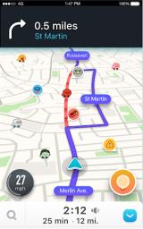 Waze screenshot