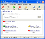 Webcam and Screen Recorder screenshot