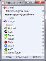 WebMail Notifier screenshot