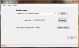 Win7 MAC Address Changer screenshot