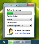 Windows 7 Battery Bar screenshot