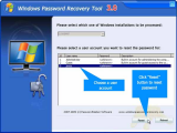 Windows Password Recovery Tool screenshot