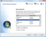 Windows Password Reset screenshot