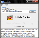Windows Reactivator screenshot